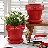 Where Children Bloom Teacher's Personalized Flower Pot- Red - 4498-R