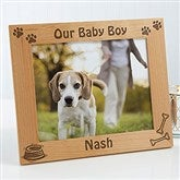A Puppy Pose Personalized Picture Frame- 8 x 10 - 4515-L