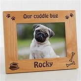 A Puppy Pose Personalized Picture Frame- 5 x 7 - 4515-M