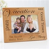 Vacation Memories Personalized Frame- 4 x 6 - 4519