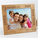 Vacation Memories Personalized Frame- 8 x 10 - 4519-L