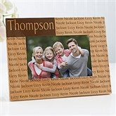 Family is Forever Personalized Picture Frame- 4 x 6 - 4523-S