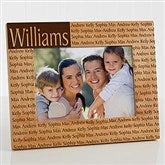 Family is Forever Personalized Picture Frame- 5 x 7 - 4523-M
