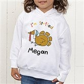 I'm Stuffed Personalized Toddler Hooded Sweatshirt - 4558-CTHS