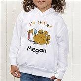 I'm Stuffed Personalized Toddler Hooded Sweatshirt - 4558-CTHS