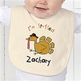I'm Stuffed Personalized Baby Bib - 4558-B