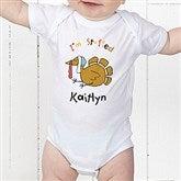I'm Stuffed Personalized Infant Baby Bodysuit - 4558-CBB
