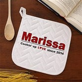 Cookin' Up Love© Personalized Potholder - 4564-P