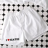 Lovin' It! Personalized White Boxer Shorts - 4567