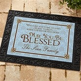 May You Be Blessed Personalized Recycled Rubber Back Doormat - 4591-S
