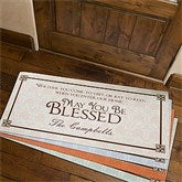 May You Be Blessed Personalized Oversized Doormat- 24x48 - 4591-O
