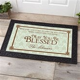 May You Be Blessed Personalized Doormat- 20x35 - 4591-M