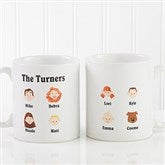 Our Family Characters Personalized Coffee Mug - 4598
