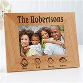 Our Family Characters Personalized Frame- 4x6 - 4599