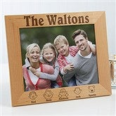 Our Family Characters Personalized Frame- 8x10 - 4599-L