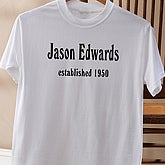 Established Birthday Adult T-Shirt - 4611-AT