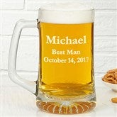 Groomsmen 25oz. Personalized Beer Mug - 4612