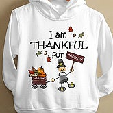 I Am Thankful© Toddler Hooded Sweatshirt - 4624THS