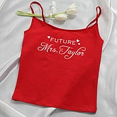 Future Mrs... Ladies Red Camisole - 4649-C