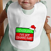 Who Needs Santa - Personalized Bib - 4660-B