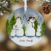 1-Sided Snow Family Personalized Ornament- Small - 4687-1