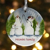Snow Family Personalized Ornament - 4687