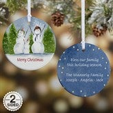2-Sided Snow Family Personalized Ornament- Small - 4687-2