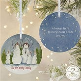 2-Sided Snow Family Personalized Ornament-Large - 4687-2L