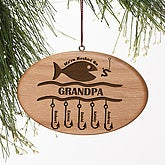 Hooked On You Engraved Ornament - 4694