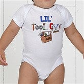 Lil Tool Guy White Baby Bodysuit - 4702-BB