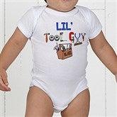 Lil Tool Guy White Baby Bodysuit - 4702-CBB