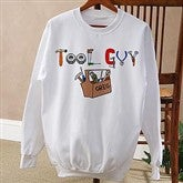 Tool Guy© White Adult Sweatshirt - 4702-AWS
