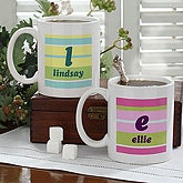 Crazy For Stripes Personalized Mug- 11 oz. - 4711-S