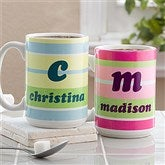 Crazy For Stripes Personalized Mug- 15 oz. - 4711-L