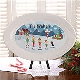 Winter Family Personalized Platter - 4743