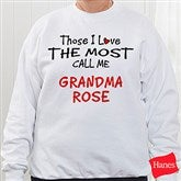 Those I Love The Most Personalized Sweatshirt - 4746-S