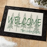 Evergreen Welcome Personalized Recycled Rubber Back Doormat - 4749