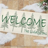Evergreen Welcome Personalized Oversized Doormat- 24x48 - 4749-O