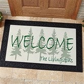Evergreen Welcome Personalized Doormat- 20x35 - 4749-M
