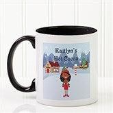 Family Character Personalized Coffee Mug 11oz.- Black - 4772-B