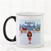 Family Character Personalized Coffee Mug 11oz.- Black - 4772-B