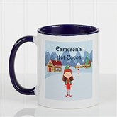 Family Character Personalized Coffee Mug 11oz.- Blue - 4772-BL