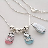 Engraved Baby Bootie Necklace - 4792D-N