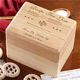 Recipe For Love Personalized Wood Recipe Box - 4803-R