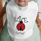 Little Love Bug Personalized Bib - 4812-B