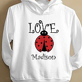 Little Love Bug Toddler Hooded Sweatshirt - 4812-THS