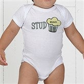 Stud Muffin Personalized Baby Bodysuit - 4813-CBB