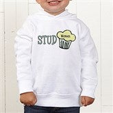 Stud Muffin Personalized Toddler Hooded Sweatshirt - 4813-CTHS