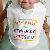 Somebody Loves Me Personalized Bib - 4814-B