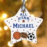 All Star Sports© Personalized Ornament - 4855
